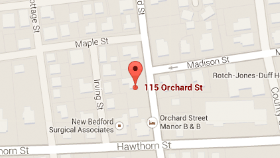 Map of 115 Orchard St. New Bedford, MA 02740